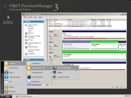 O&O Software PartitionManager 3 Server Edition - 7