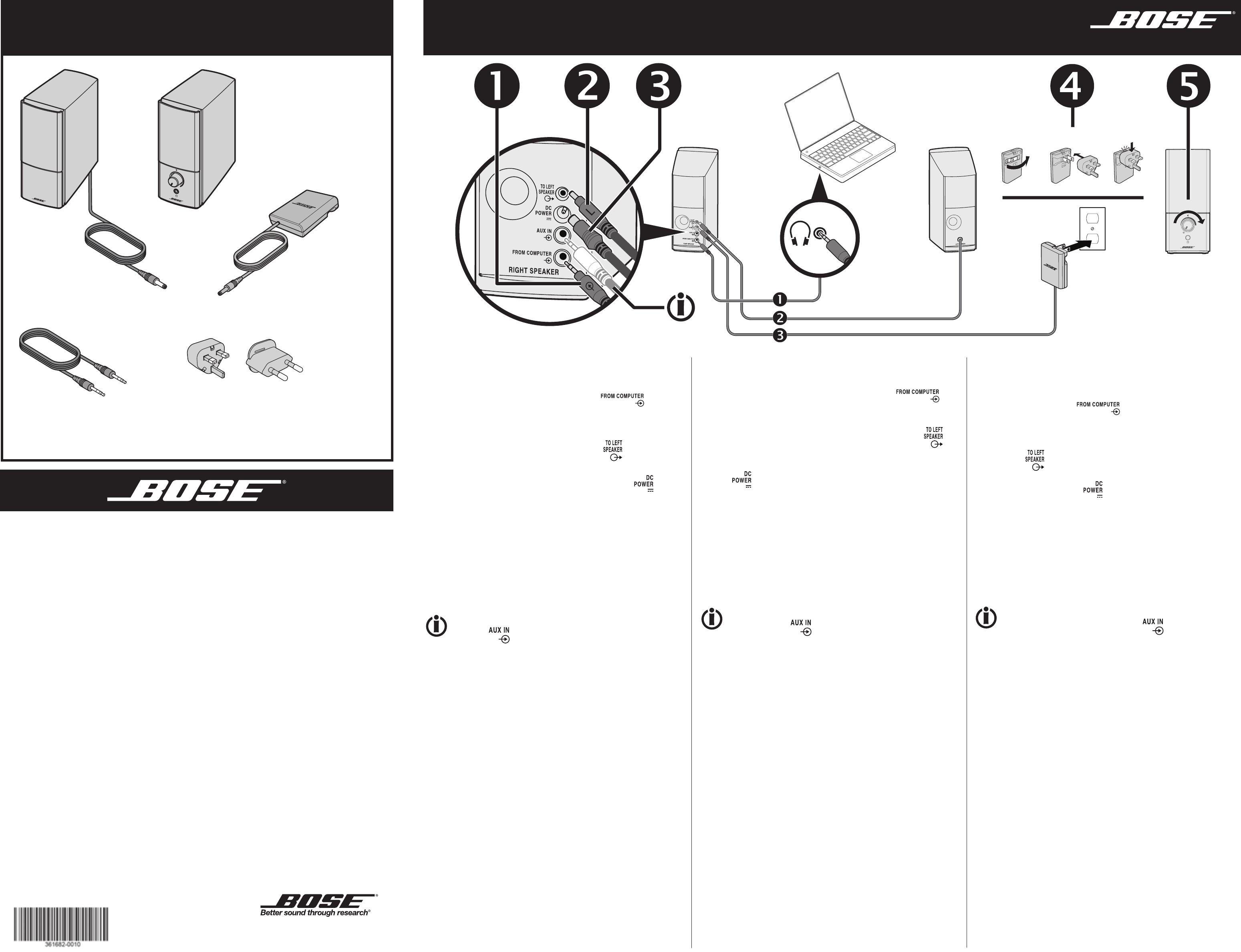 User manual Bose Companion 2 Series III (2 pages)Manua.ls