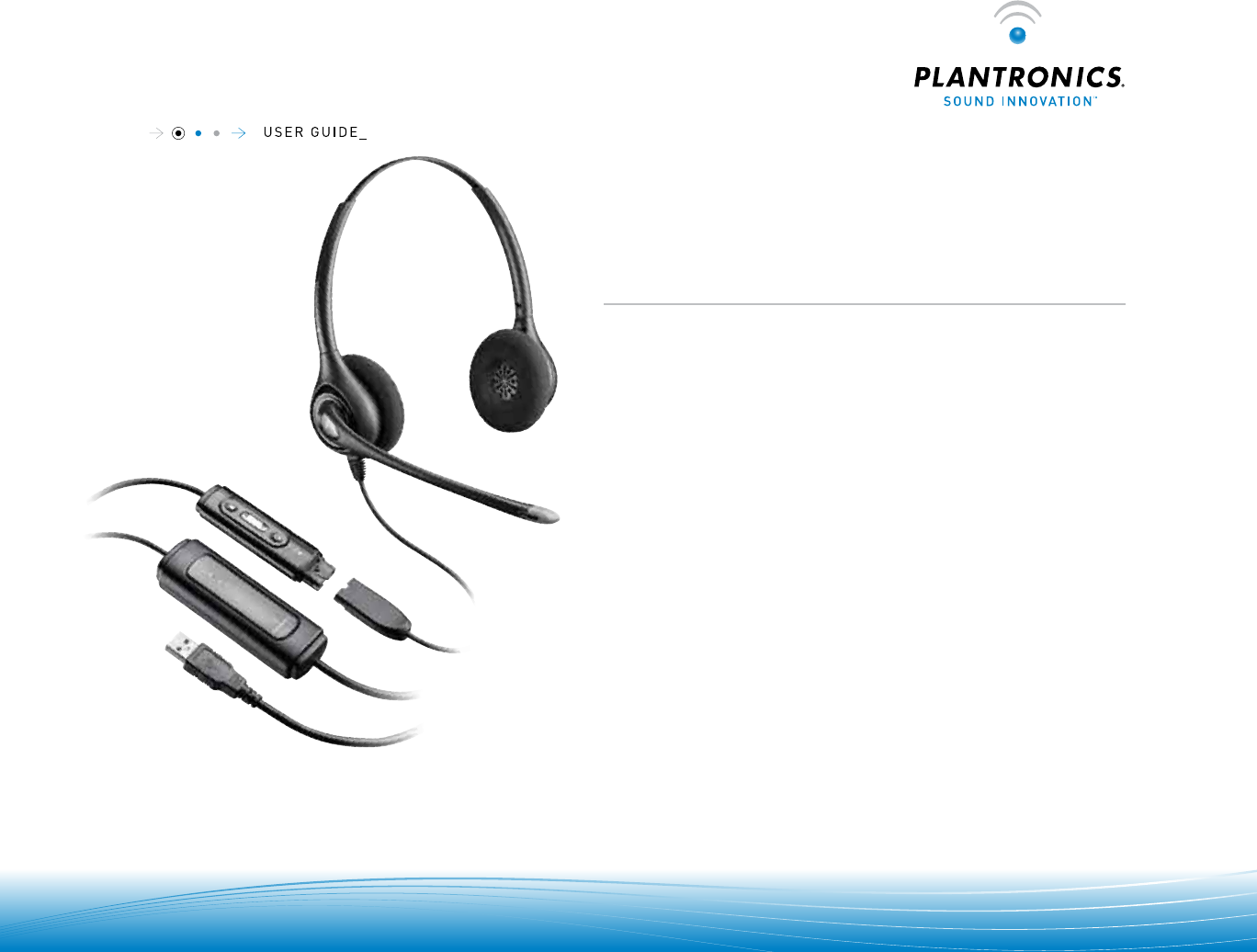 User Manual Plantronics D261n 6 Pages
