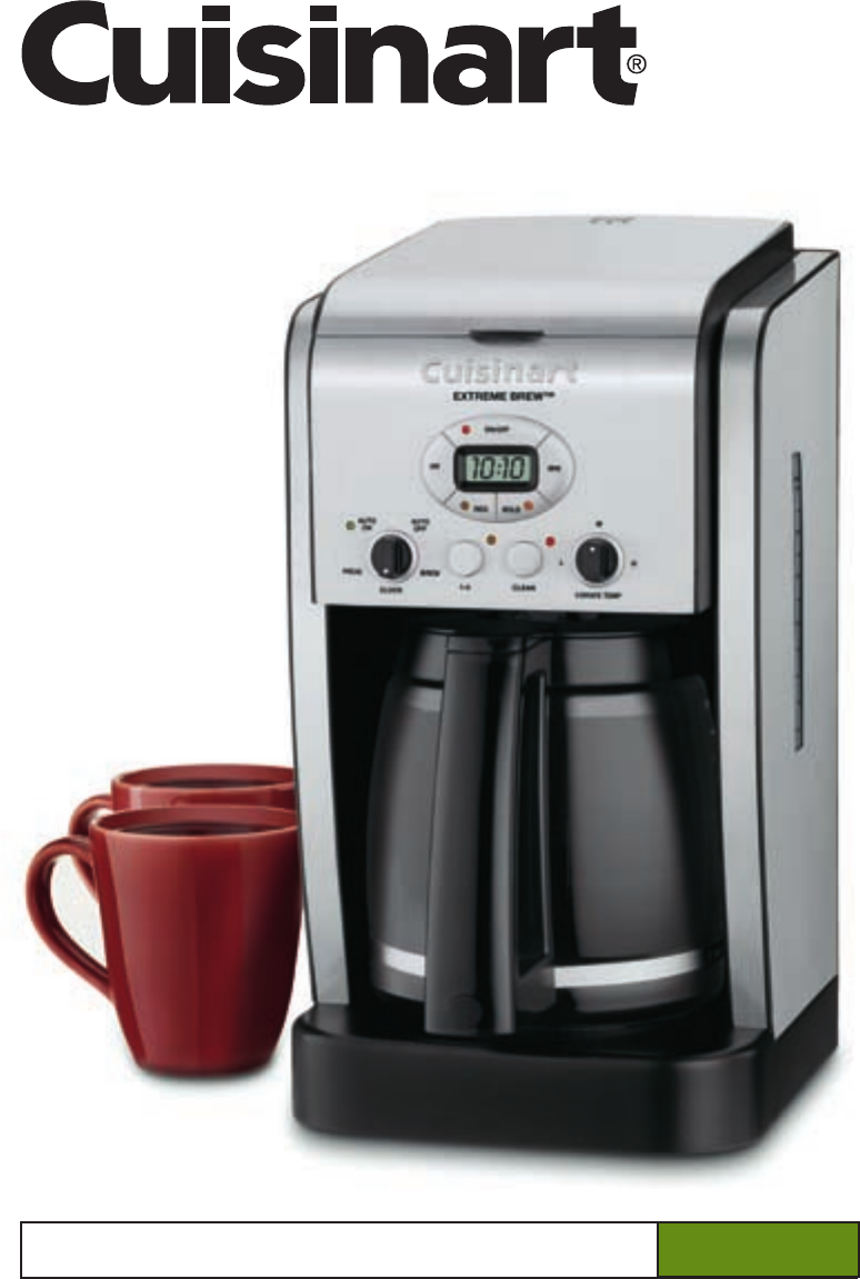 User manual Cuisinart Extreme Brew DCC-2650 (13 pages)