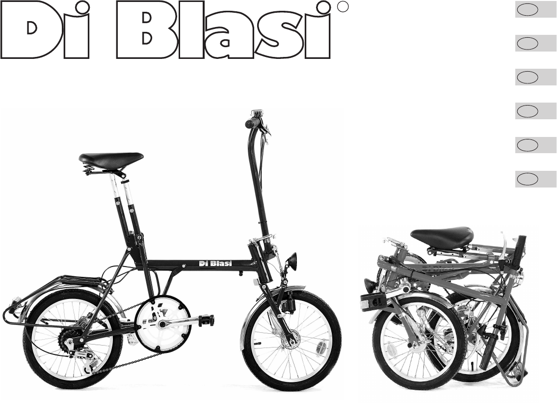 Bici Pieghevole Di Blasi.User Manual Di Blasi R5 32 Pages