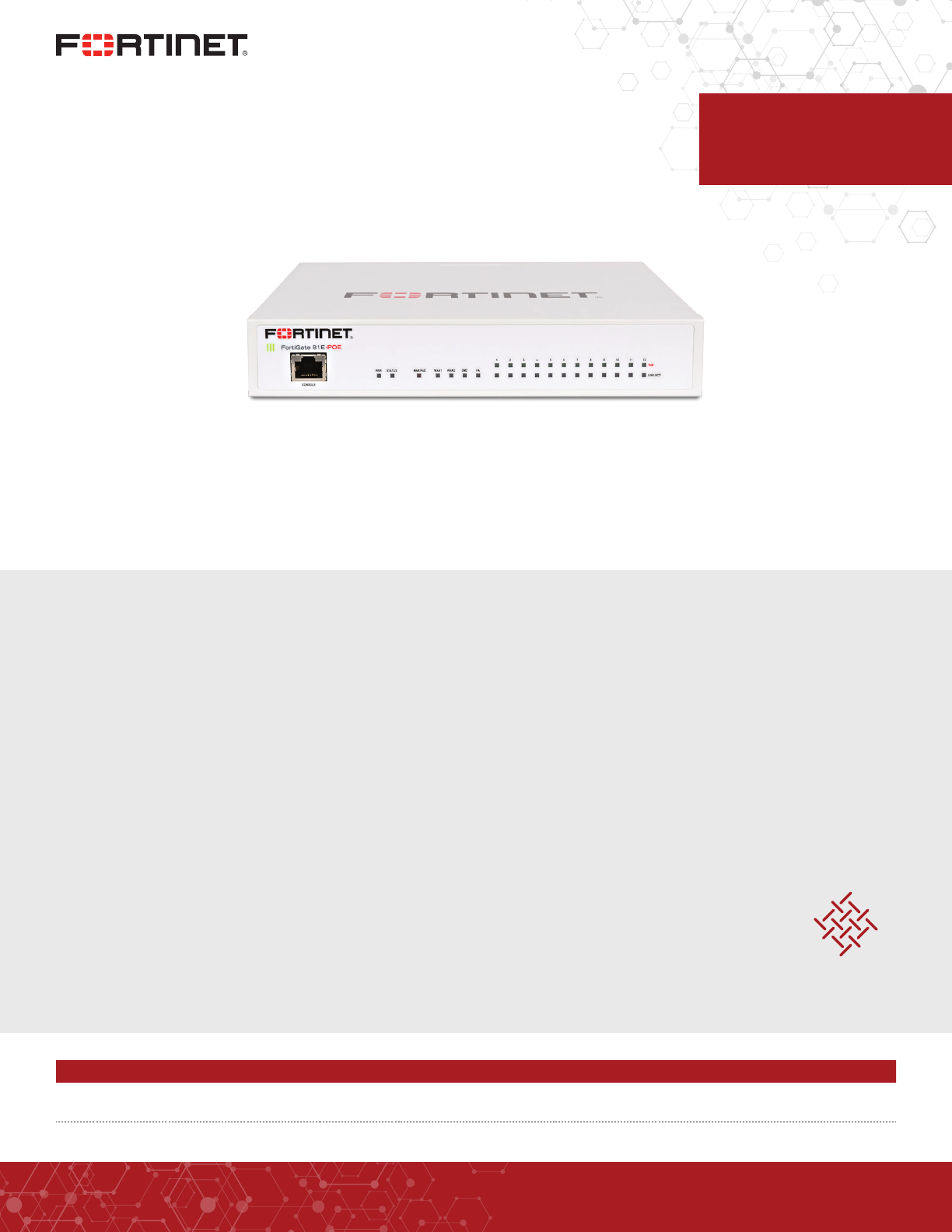 📖 User manual Fortinet 80E (6 pages)