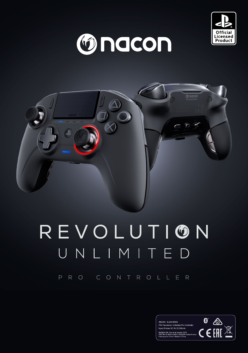 User Manual Nacon Revolution Unlimited Pro Controller Ps4 34 Pages